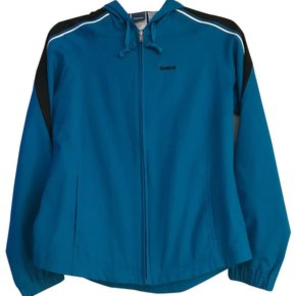 331da03ef9061 Reebok Blue Windbreaker Jacket Activewear Vintage